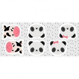 Tecido Coleção Pillow - Painel de Almofadas Rostinhos Fabricart   (0)