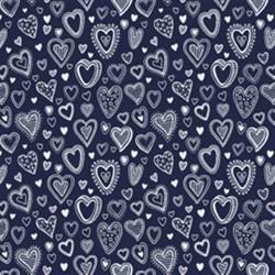 Tecido Nacional Coleção Multi Corações Marinho (0)