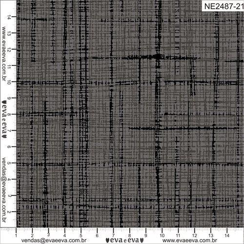 Tecido Nacional Coleção Neutro Preto (0)