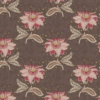 Tecido Nacional Coleção Floral Arabesque Jacobean Marrom Fabricart (0)