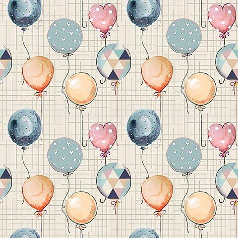 Tecido Nacional Digital Coleção Mini Balões (0)