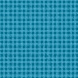Tecido Coleção Xadrez Azul Turquesa Fabricart  (0)