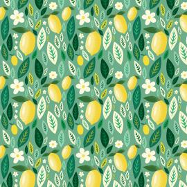 Tecido Coleção Limão e Folhas (0)