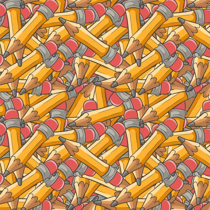 Tecido Nacional Coleção Lápis com Borracha (0)