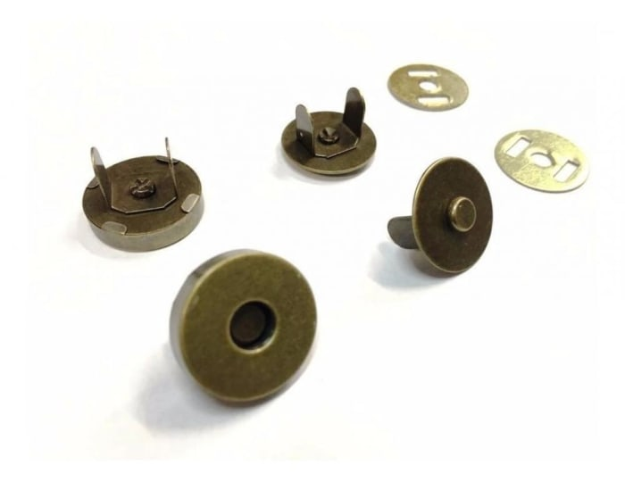 Botão Imantado/Magnético 18mm Ouro Velho (0)