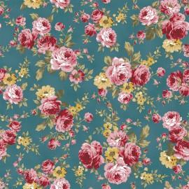 Tecido Nacional Coleção Flores Turmalina Fabricart    (0)