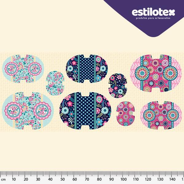 Tecido Nacional Coleção Kit Necessaire Estilotex Por Bia Feltz (0)