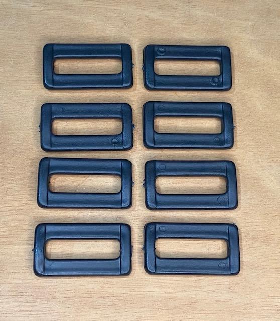 Passador/Quadro para Alça de Bolsa Plástico Preto 30mm   (0)