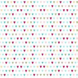 Tecido Nacional Corações Color Fabricart (0)