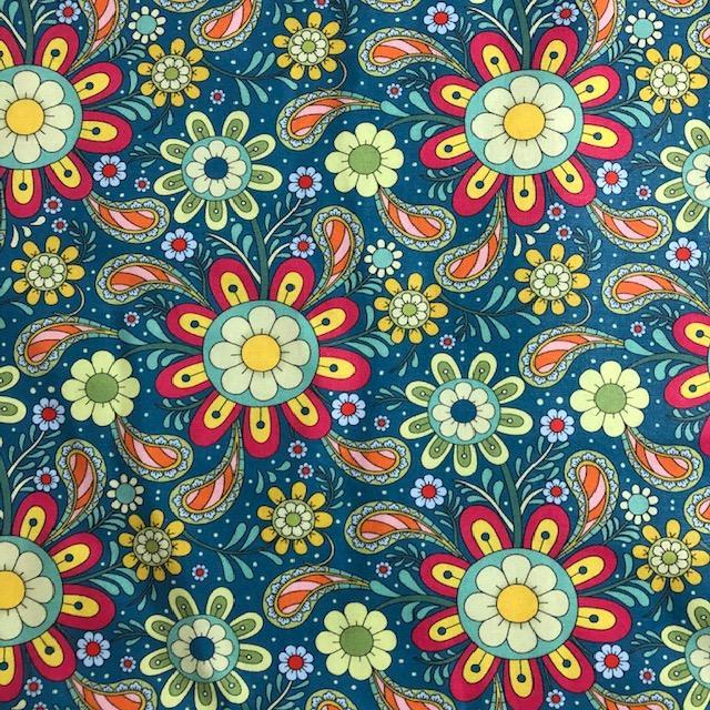 Tecido Digital Mandalas Flores (0)
