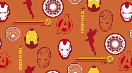 Tecido Tricoline Personagens Marvel Homem de Ferro (0)