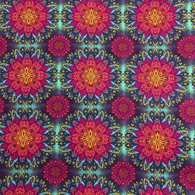 Tecido Digital Mandalas Coloridas  (0)