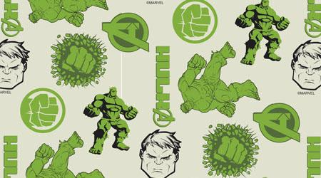 Tecido Tricoline Personagens Marvel Hulk (0)