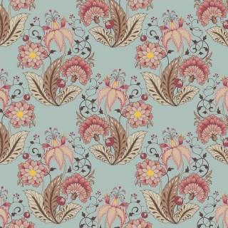 Tecido Nacional Coleção Floral Jacobean Acqua Fabricart (0)