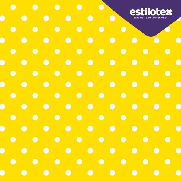 Tecido Nacional Coleção Poa Amarelo com Bolinhas Brancas (0)