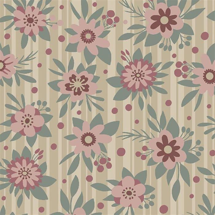 Tecido Nacional Coleção Fashion Floral Vanilla (0)