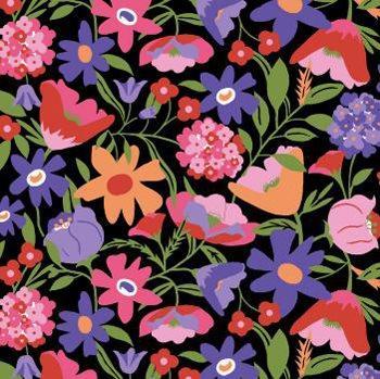 Tecido Nacional Coleção Flores do Deserto Escuro (0)