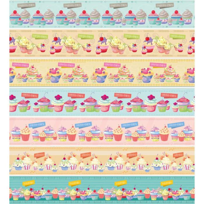 Tecido Nacional Coleção Semaninha Cupcake (0)