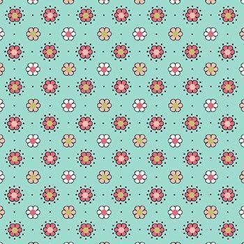 Tecido Nacional Coleção Amor Urbano - Mini Flores (0)
