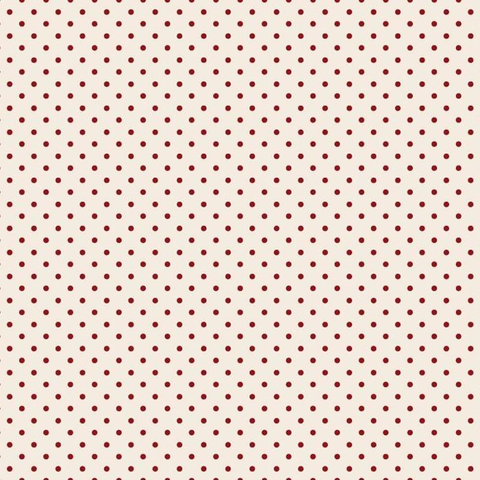 Tecido Nacional Coleção Mini Poá Vermelho Fabricart