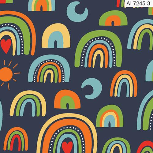 Tecido-Nacional-Coleção-Corujinhas-Dorminhocas-Arco-íris-Marinho