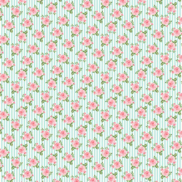 4906 - Rosas em Fundo Listrado-1000x1000